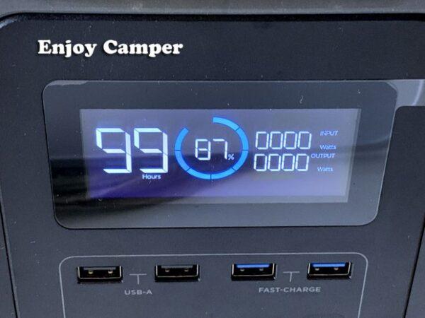 走行充電で87%まで充電できました