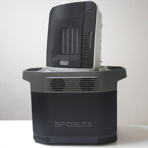 ポータブル電源+セラミックヒーターが最強だけどバッテリーが朝まで持たない